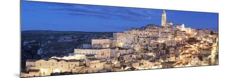 Sasso Barisano and Cathedral, UNESCO World Heritage Site, Matera, Basilicata, Puglia, Italy, Europe-Markus Lange-Mounted Photographic Print