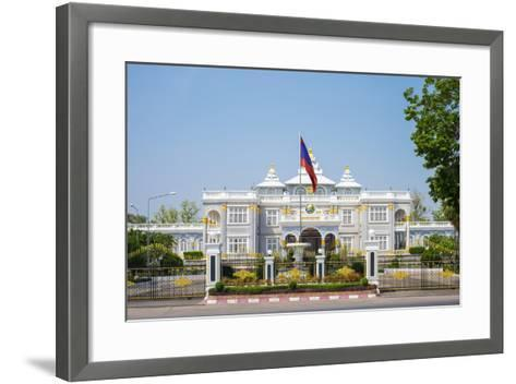 Presidential Palace, Official Residence of the President of Laos, Vientiane, Laos, Indochina-Jason Langley-Framed Art Print