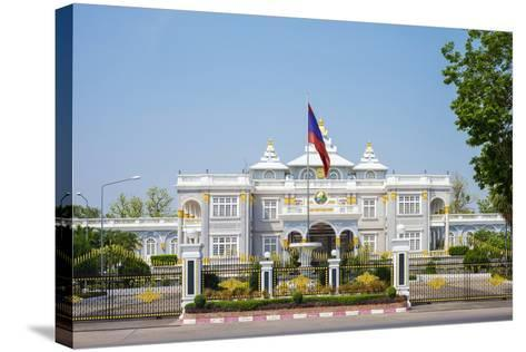 Presidential Palace, Official Residence of the President of Laos, Vientiane, Laos, Indochina-Jason Langley-Stretched Canvas Print