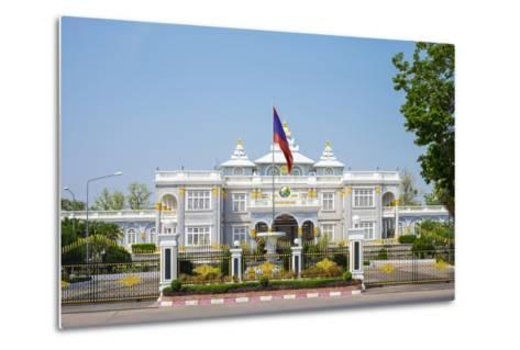 Presidential Palace, Official Residence of the President of Laos, Vientiane, Laos, Indochina-Jason Langley-Metal Print