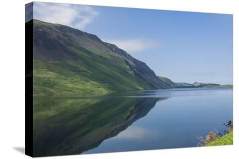 Wastwater and the Screes, Early Morning, Wasdale, Lake District National Park, Cumbria-James Emmerson-Stretched Canvas Print