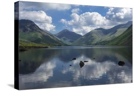 Great Gable, Lingmell, and Yewbarrow, Lake Wastwater, Wasdale-James Emmerson-Stretched Canvas Print