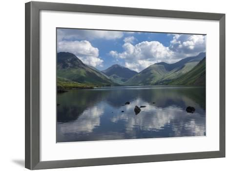 Great Gable, Lingmell, and Yewbarrow, Lake Wastwater, Wasdale-James Emmerson-Framed Art Print