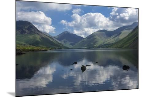 Great Gable, Lingmell, and Yewbarrow, Lake Wastwater, Wasdale-James Emmerson-Mounted Photographic Print