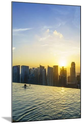 Infinity Pool on Roof of Marina Bay Sands Hotel with Spectacular Views over Singapore Skyline-Fraser Hall-Mounted Photographic Print