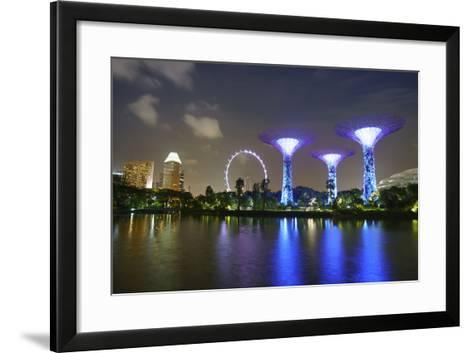 Supertree Grove in the Gardens by the Bay, a Futuristic Botanical Gardens and Park-Fraser Hall-Framed Art Print