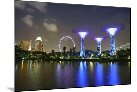 Supertree Grove in the Gardens by the Bay, a Futuristic Botanical Gardens and Park-Fraser Hall-Mounted Photographic Print
