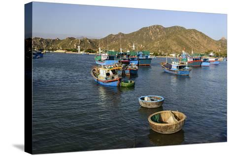The Fishing Port, Phan Rang, Ninh Thuan Province, Vietnam, Indochina, Southeast Asia, Asia-Nathalie Cuvelier-Stretched Canvas Print