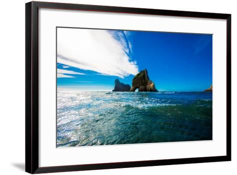 Rock Formations in Golden Bay, Tasman Region, South Island, New Zealand, Pacific-Laura Grier-Framed Art Print