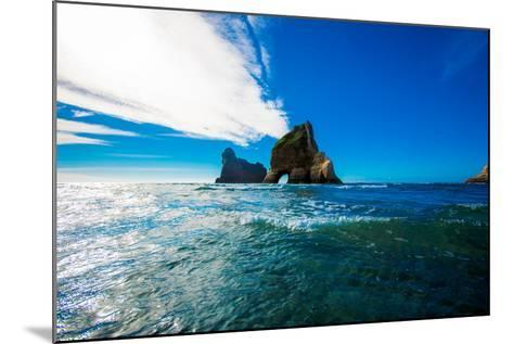Rock Formations in Golden Bay, Tasman Region, South Island, New Zealand, Pacific-Laura Grier-Mounted Photographic Print