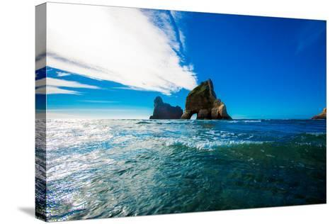 Rock Formations in Golden Bay, Tasman Region, South Island, New Zealand, Pacific-Laura Grier-Stretched Canvas Print