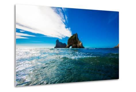 Rock Formations in Golden Bay, Tasman Region, South Island, New Zealand, Pacific-Laura Grier-Metal Print