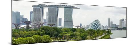 Panoramic View Overlooking the Gardens by the Bay, Marina Bay Sands and City Skyline, Singapore-Fraser Hall-Mounted Photographic Print