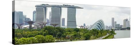 Panoramic View Overlooking the Gardens by the Bay, Marina Bay Sands and City Skyline, Singapore-Fraser Hall-Stretched Canvas Print