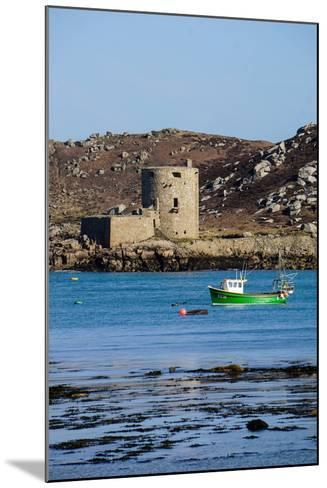Fishing Boat, Cromwell's Castle on Tresco, Isles of Scilly, England, United Kingdom, Europe-Robert Harding-Mounted Photographic Print