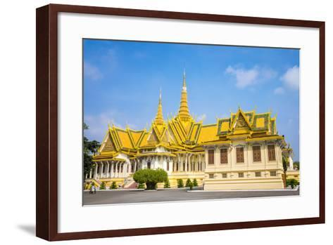 Throne Hall (Preah Thineang Dheva Vinnichay) and Hor Samrith Phimean of the Royal Palace-Jason Langley-Framed Art Print