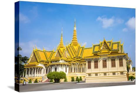 Throne Hall (Preah Thineang Dheva Vinnichay) and Hor Samrith Phimean of the Royal Palace-Jason Langley-Stretched Canvas Print
