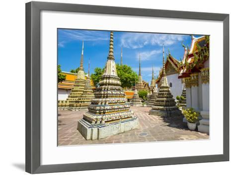 Stupas at Wat Pho (Temple of the Reclining Buddha), Bangkok, Thailand, Southeast Asia, Asia-Jason Langley-Framed Art Print