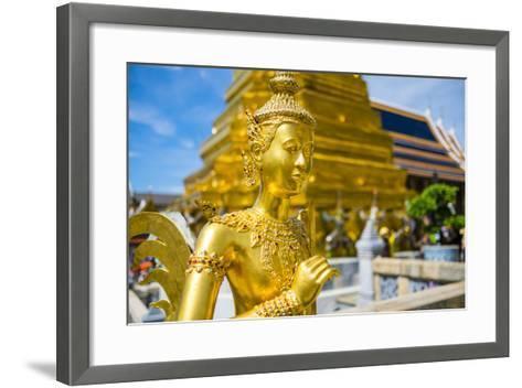 Kinnara Statue at Temple of the Emerald Buddha (Wat Phra Kaew), Grand Palace Complex, Bangkok-Jason Langley-Framed Art Print