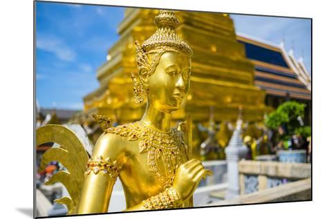 Kinnara Statue at Temple of the Emerald Buddha (Wat Phra Kaew), Grand Palace Complex, Bangkok-Jason Langley-Mounted Photographic Print