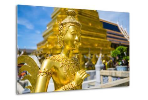Kinnara Statue at Temple of the Emerald Buddha (Wat Phra Kaew), Grand Palace Complex, Bangkok-Jason Langley-Metal Print