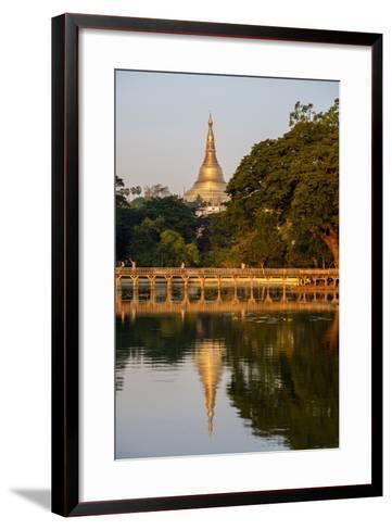 Shwedagon, Kan Daw Gyi Lake and Park, Old City, Yangon (Rangoon), Myanmar (Burma), Asia-Nathalie Cuvelier-Framed Art Print