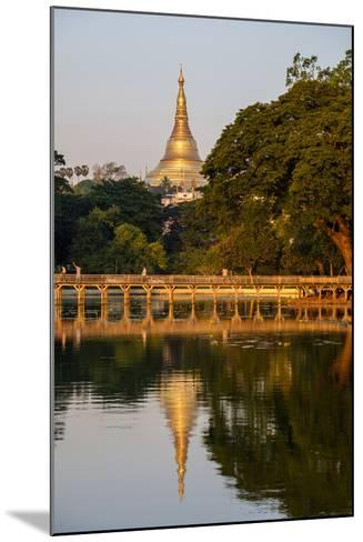 Shwedagon, Kan Daw Gyi Lake and Park, Old City, Yangon (Rangoon), Myanmar (Burma), Asia-Nathalie Cuvelier-Mounted Photographic Print