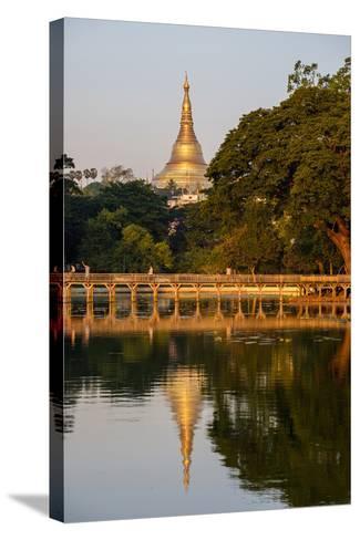 Shwedagon, Kan Daw Gyi Lake and Park, Old City, Yangon (Rangoon), Myanmar (Burma), Asia-Nathalie Cuvelier-Stretched Canvas Print