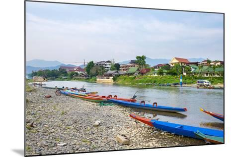 Nam Song River in Vang Vieng, Vientiane Province, Laos, Indochina, Southeast Asia, Asia-Jason Langley-Mounted Photographic Print