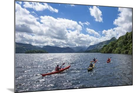 Canoes on Derwentwater, View Towards Borrowdale Valley, Keswick-James Emmerson-Mounted Photographic Print