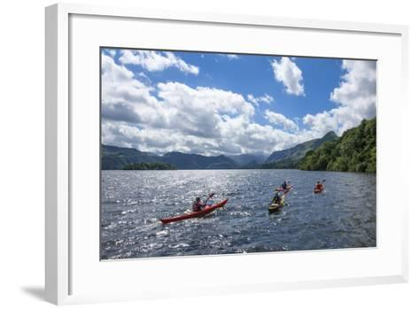 Canoes on Derwentwater, View Towards Borrowdale Valley, Keswick-James Emmerson-Framed Art Print