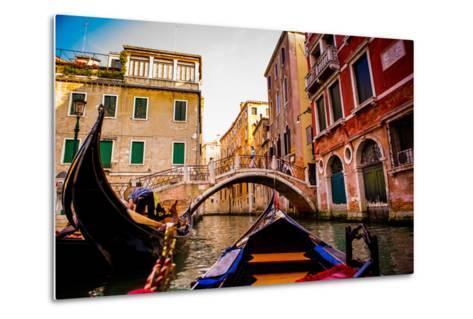 Floating on a Gondola, Venice, UNESCO World Heritage Site, Veneto, Italy, Europe-Laura Grier-Metal Print