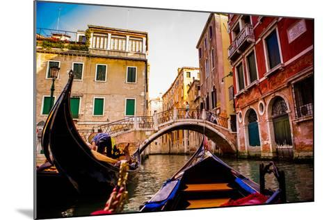 Floating on a Gondola, Venice, UNESCO World Heritage Site, Veneto, Italy, Europe-Laura Grier-Mounted Photographic Print