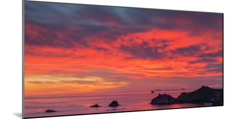 Looking South-East from New Zealand's Coromandel Peninsula to the Alderman Islands at Dawn, Waikato-Garry Ridsdale-Mounted Photographic Print