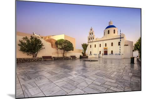 The Holy Orthodox Church of Panagia with the Colors White and Blue the Icons of Greece, Oia-Roberto Moiola-Mounted Photographic Print