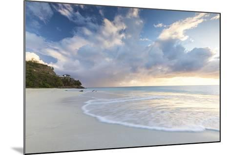The Sky Turns Pink at Sunset and Reflected on Ffryes Beach, Antigua, Antigua and Barbuda-Roberto Moiola-Mounted Photographic Print