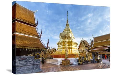 Doi Suthep Temple, Chiang Mai, Thailand, Southeast Asia, Asia-Alex Robinson-Stretched Canvas Print