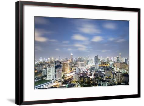 City Skyline at Night, Bangkok, Thailand, Southeast Asia, Asia-Alex Robinson-Framed Art Print
