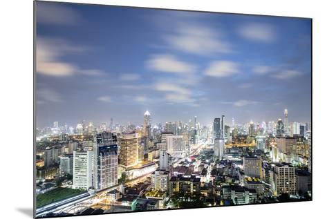 City Skyline at Night, Bangkok, Thailand, Southeast Asia, Asia-Alex Robinson-Mounted Photographic Print