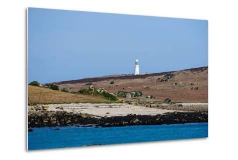 Lighthouse, Isles of Scilly, England, United Kingdom, Europe-Robert Harding-Metal Print