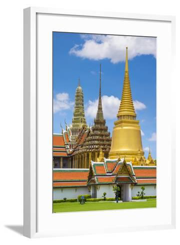 Spires of the Temple of the Emerald Buddha (Wat Phra Kaew), Grand Palace Complex, Bangkok-Jason Langley-Framed Art Print