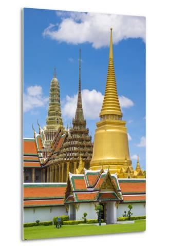 Spires of the Temple of the Emerald Buddha (Wat Phra Kaew), Grand Palace Complex, Bangkok-Jason Langley-Metal Print