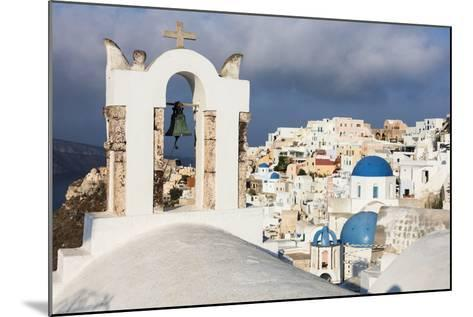 The White of the Church and Houses and the Blue of Aegean Sea as Symbols of Greece, Oia, Santorini-Roberto Moiola-Mounted Photographic Print