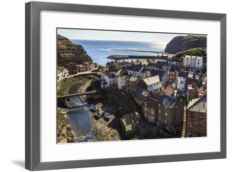 Winding Alleys, Fishing Boats and Sea, Elevated View of Village in Summer-Eleanor Scriven-Framed Art Print