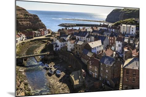 Winding Alleys, Fishing Boats and Sea, Elevated View of Village in Summer-Eleanor Scriven-Mounted Photographic Print