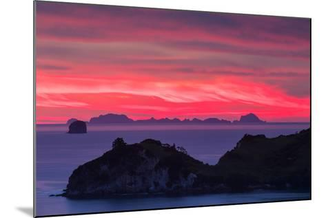 The Sky Appears on Fire as Dawn Light Seeps Through Clouds Beyond Alderman Island-Garry Ridsdale-Mounted Photographic Print