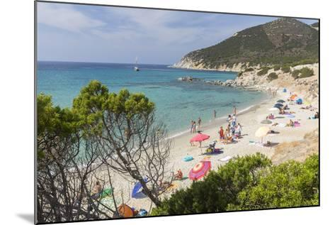Mediterranean Vegetation Frames the Beach and the Turquoise Sea of Porto Sa Ruxi, Villasimius-Roberto Moiola-Mounted Photographic Print