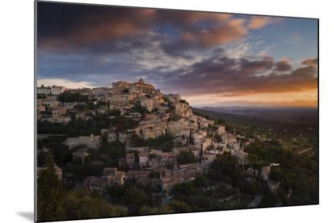 Houses and Buildings of Gordes as They Spiral Up around Rock Plateau High Above Luberon-Garry Ridsdale-Mounted Photographic Print