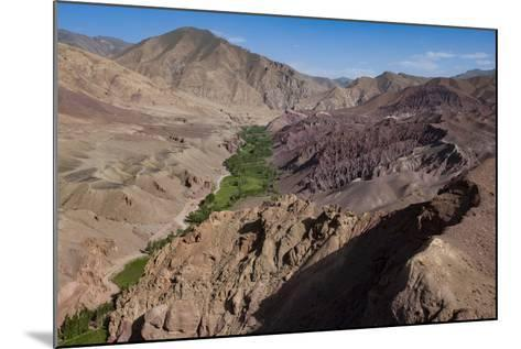 Rugged Landscapes and Green Patchwork Fields Near Shahr-E Zohak, Afghanistan, Asia-Alex Treadway-Mounted Photographic Print