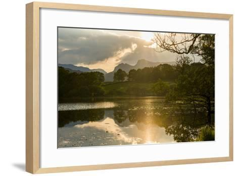 Sunset at Loughrigg Tarn Near Ambleside, Lake District National Park, Cumbria-Alex Treadway-Framed Art Print